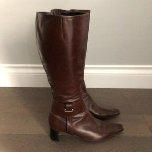 Arnold Churgin Leather Boots Brown Size 391/2
